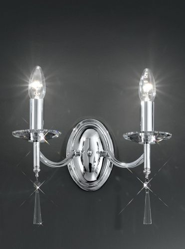 Franklite FL2239/2 Chrome Wall Light